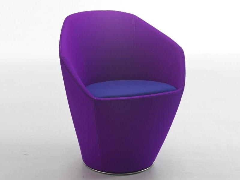 Fabric easy chair with armrests FLEUR | Easy chair - CIZETA
