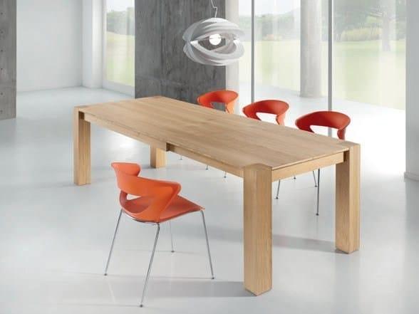 Rectangular oak table OSHO by Domus Arte