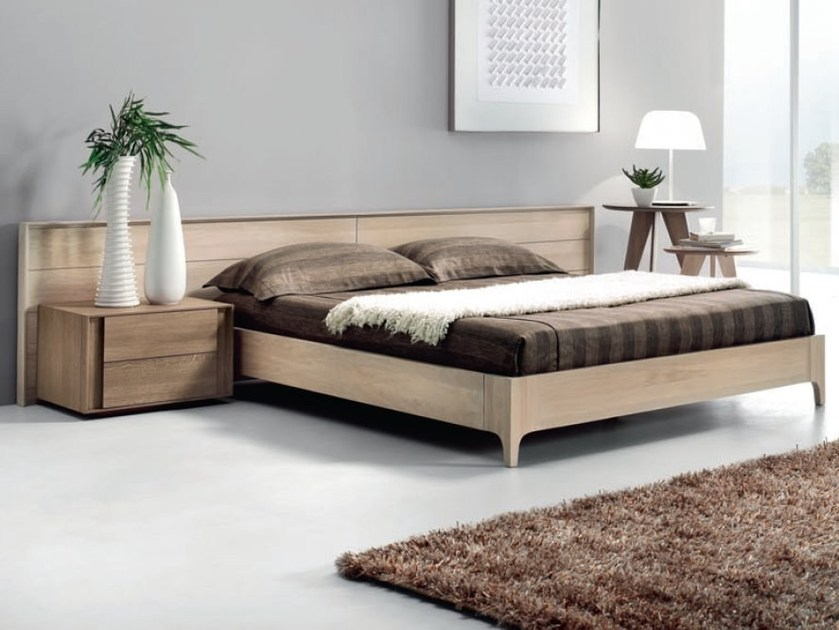 Oak double bed INNOVA - Domus Arte