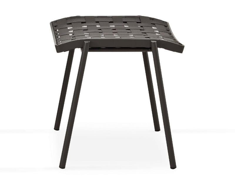 Square fabric garden footstool NIZZA   Garden footstool - FISCHER MÖBEL