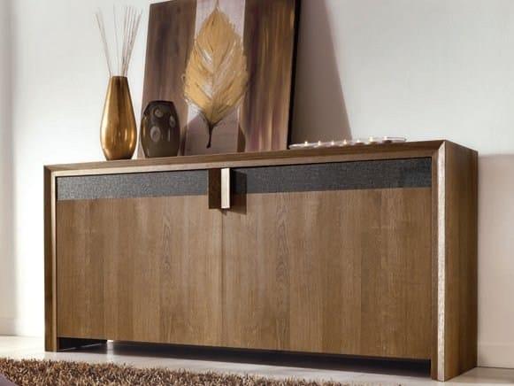 Oak sideboard with doors ANTARES - Domus Arte