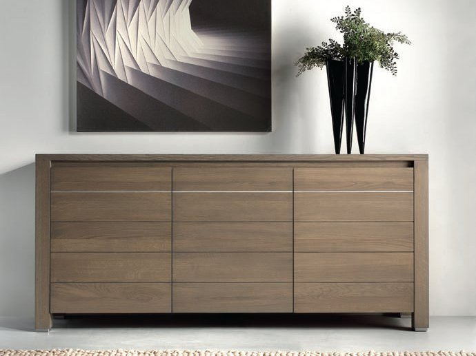 Oak sideboard with doors CALYPSO - Domus Arte