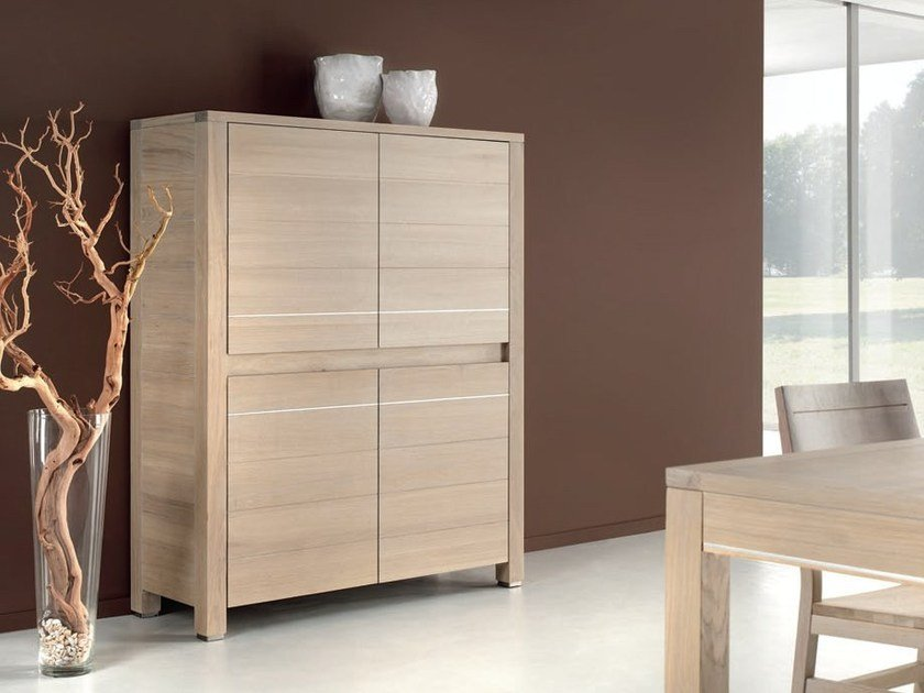 Oak highboard LAS VEGAS - Domus Arte