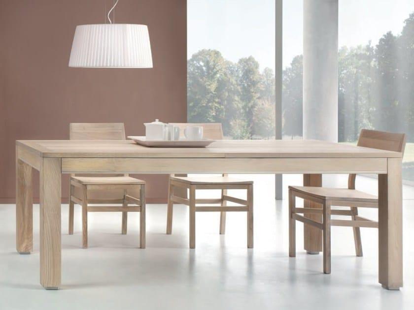 Extending rectangular table BARDOLINO - Domus Arte