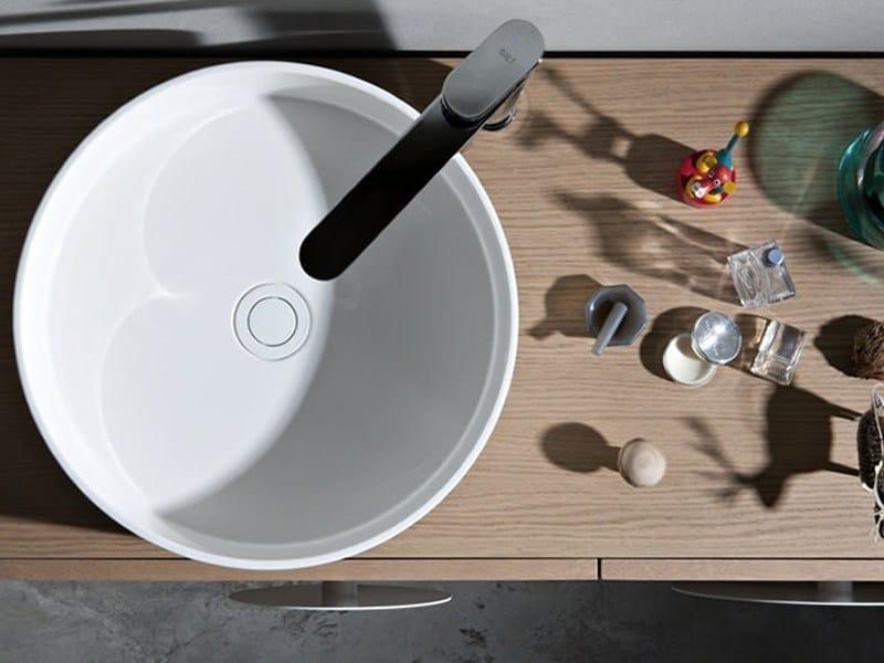 Design countertop round ceramic washbasin ROUND by Ex.t