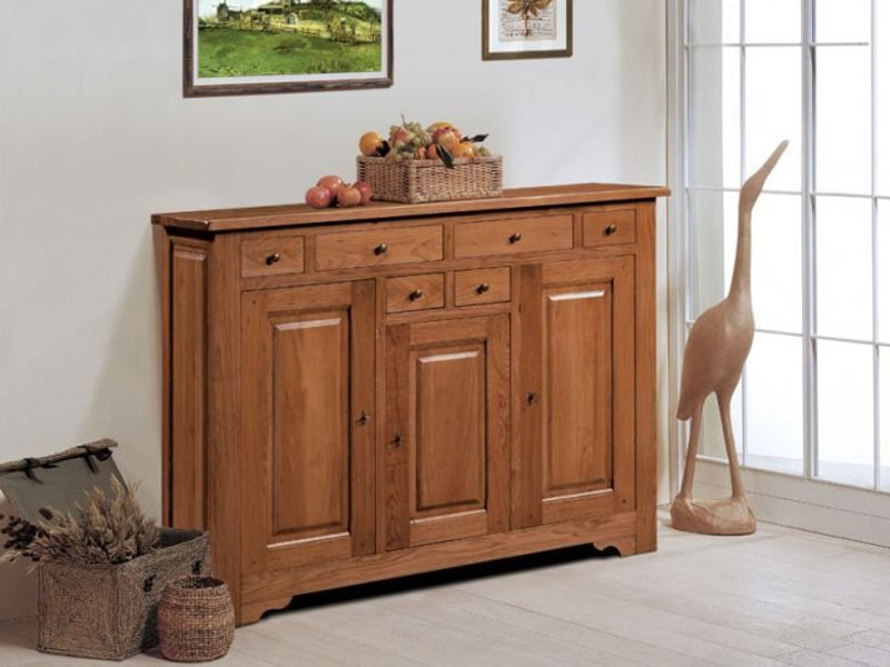Wooden highboard ARDECHE | Highboard - Domus Arte