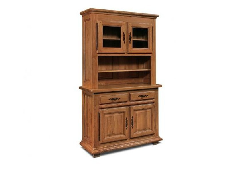 Rustic style wooden highboard GIRONDE | Highboard - Domus Arte