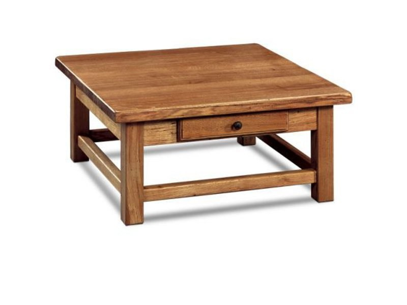 Square wooden coffee table FERME | Square coffee table - Domus Arte