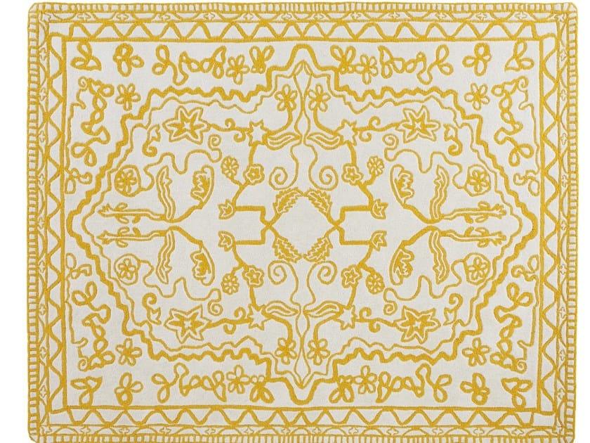 Patterned wool rug OUSHAK - ROSET ITALIA