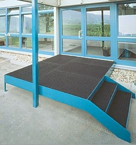 Rubber Technical mat KARO AS® - GRIDIRON GRIGLIATI