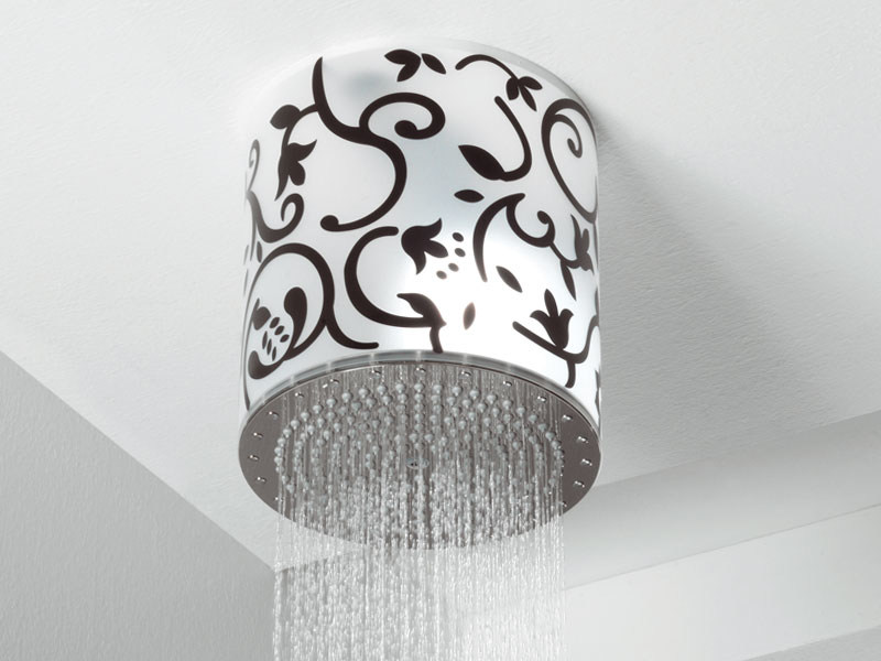 Rain shower with built-in lights LUMIERE by Bossini