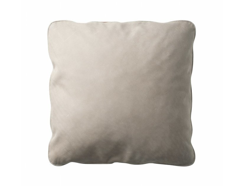 Leather cushion with removable cover ZIP - Zanotta