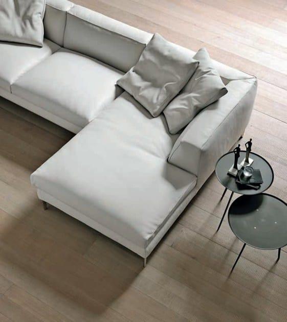 Divano angolare con poggiapiedi cloud divano angolare - Divano con poggiapiedi ...
