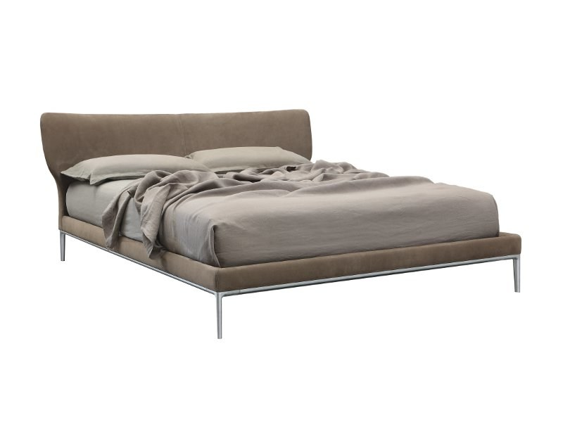 Double bed with upholstered headboard MAYA by ALIVAR
