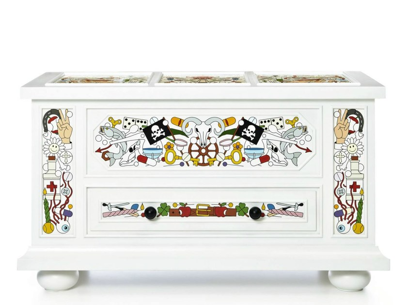 Free standing lacquered pine chest of drawers ALTDEUTSCHE | Chest of drawers by moooi