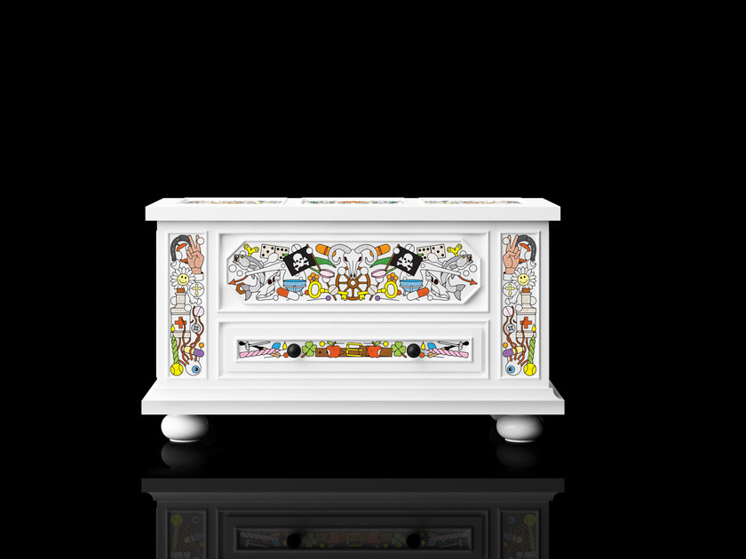 Free standing lacquered pine chest of drawers ALTDEUTSCHE | Chest of drawers - Moooi©