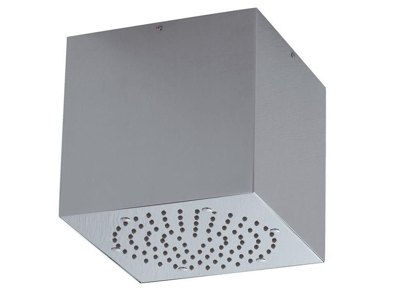 Stainless steel rain shower CUBE-INOX - Bossini