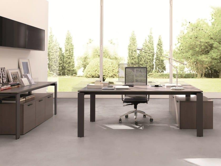 Rectangular wooden office desk BUSINESS | Office desk - Zalf