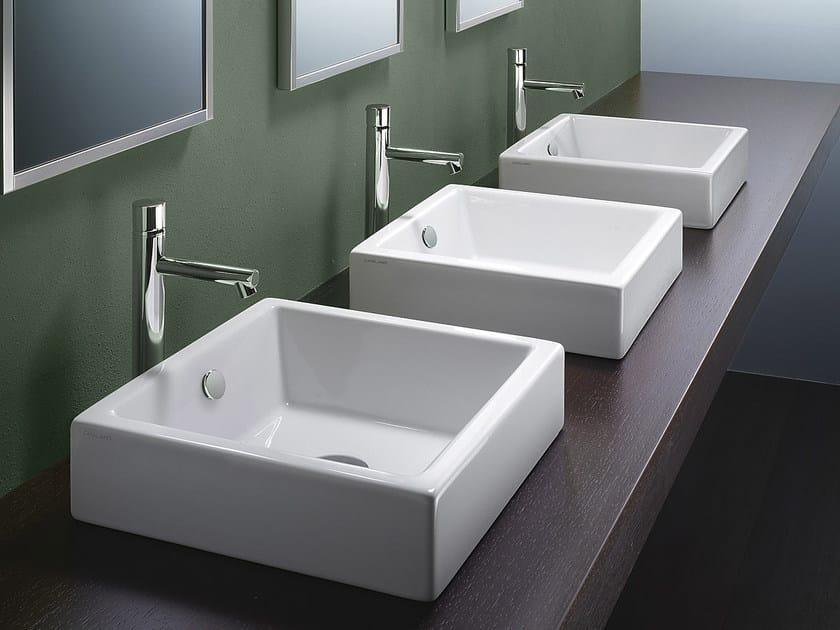Countertop rectangular ceramic washbasin VERSO TRENTASETTE 37 | Washbasin - CERAMICA CATALANO
