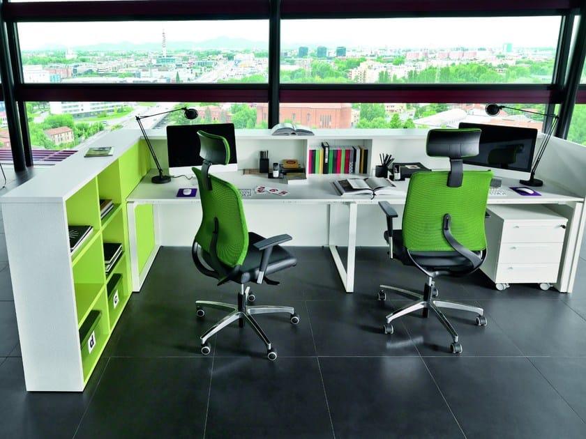 Modular Office reception desk RECEPTION   Office reception desk by Zalf