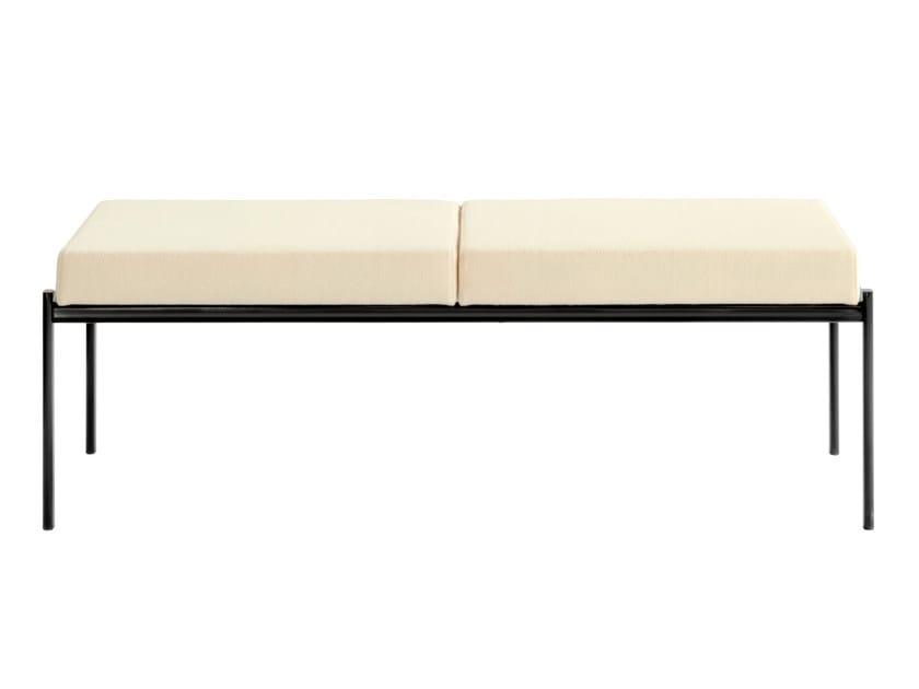 Upholstered steel bench KIKI | Upholstered bench - Artek