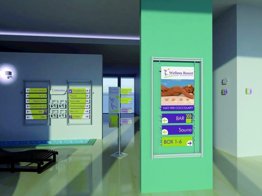 Modular aluminium display system INUNO | Sign by STUDIO T