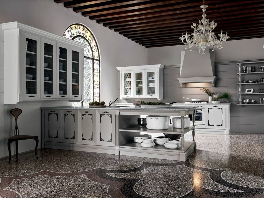 Classic style lacquered wooden kitchen ETOILE - COMPOSITION 1 by Cesar Arredamenti