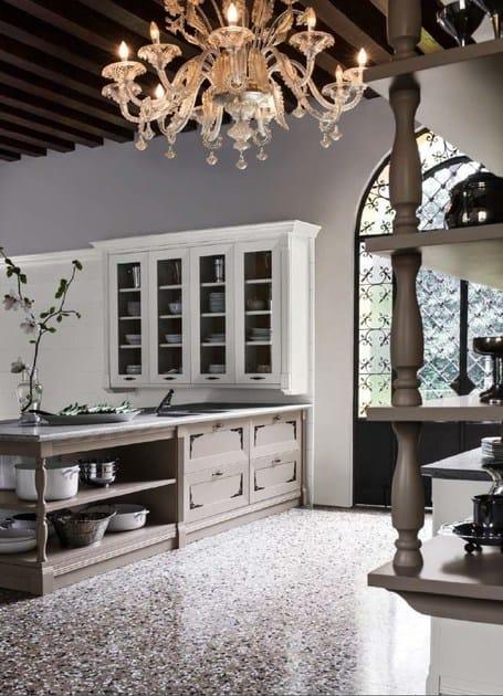Cucina laccata in legno in stile classico etoile for Bf arredamenti