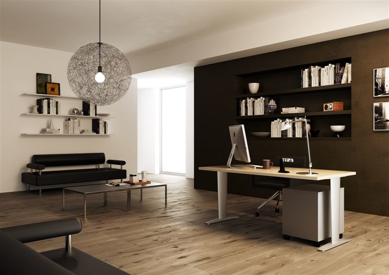 Rectangular workstation desk CORA | Rectangular office desk - MASCAGNI
