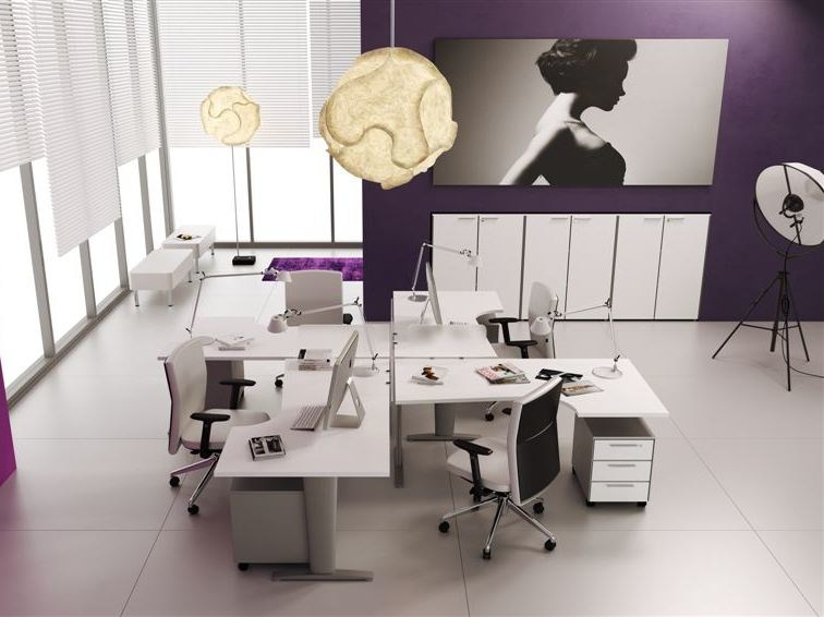 Multiple office workstation CORA | Office workstation by MASCAGNI