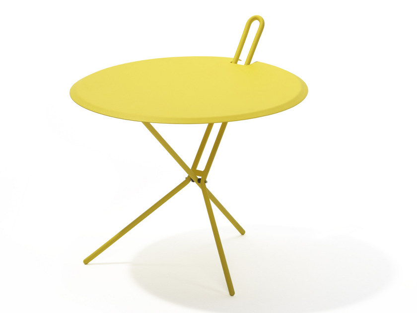 Folding Round garden side table HOOK - Richard Lampert