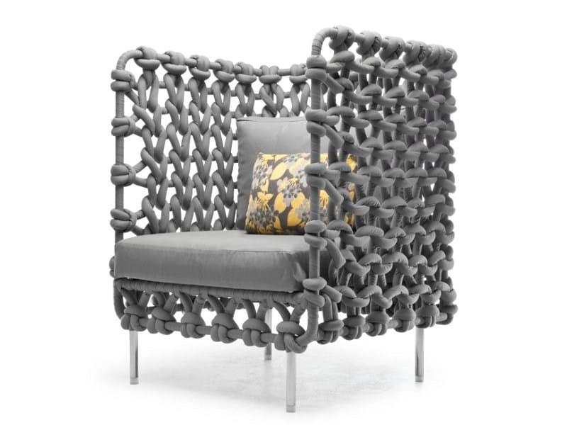 Polyester armchair / garden armchair CABARET | Armchair - KENNETH COBONPUE