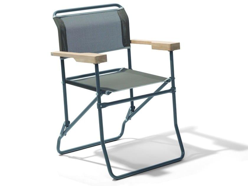 Folding garden chair with armrests MASH - Richard Lampert