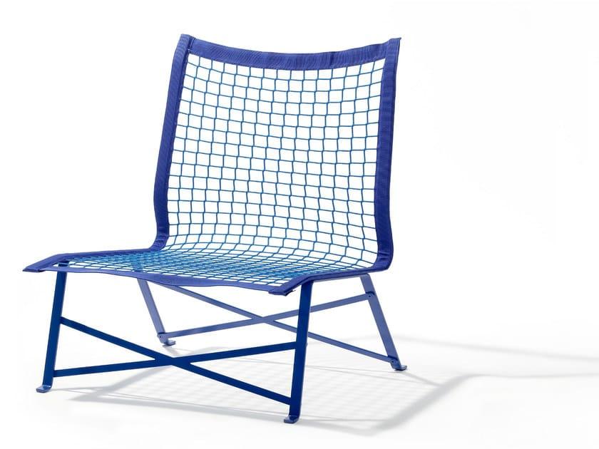 Steel garden armchair TIE-BREAK - Richard Lampert