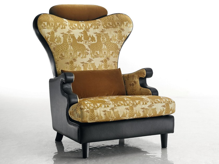 Upholstered armchair THEODORA by Sicis