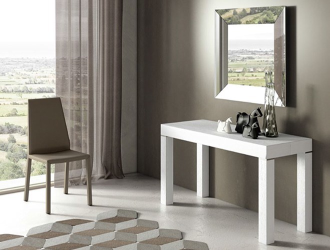 Extending rectangular wooden console table PQR 190/200/300 | Extending console table by RIFLESSI