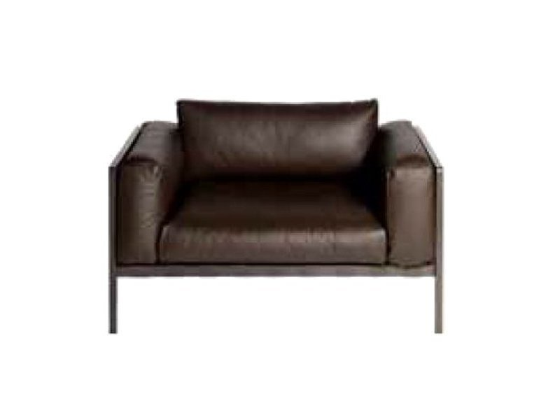 Leather garden armchair NATAL ALU SOFA | Garden armchair - TRIBÙ