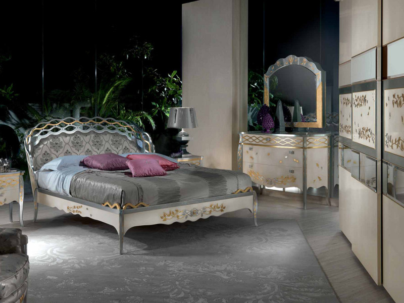 Wall-mounted framed mirror BLANCA | Mirror - Carpanelli Classic