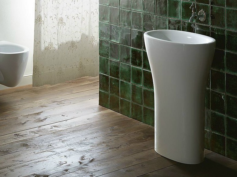 Freestanding oval ceramic washbasin MUSE FREESTANDING | Washbasin - CERAMICA CATALANO