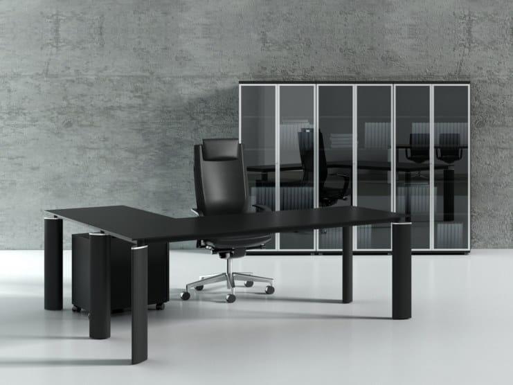 Crystal scrivania direzionale by mdd for Scrivania direzionale prezzi