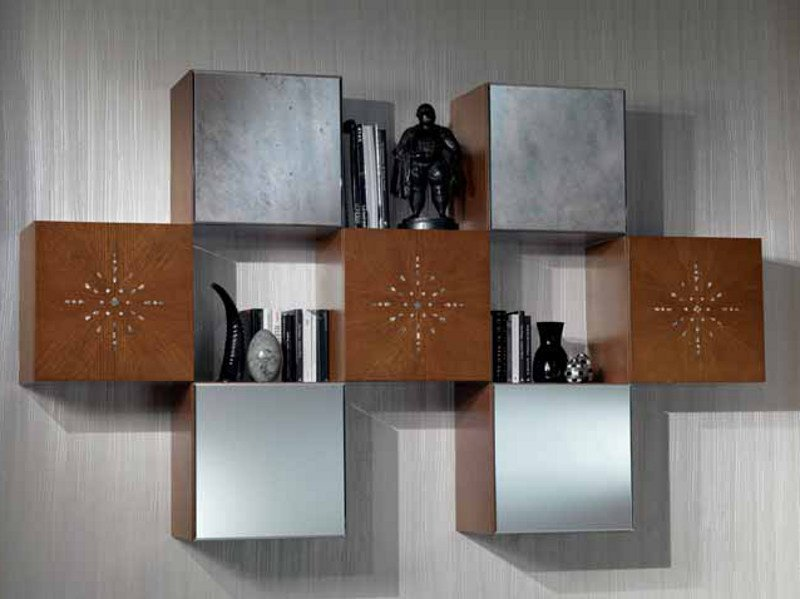 Wall cabinet with mirrored door MONDRIAN | Wall cabinet - Carpanelli Classic