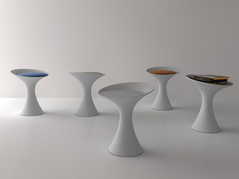 Cristalplant® stool / coffee table KALÉ - Living Divani