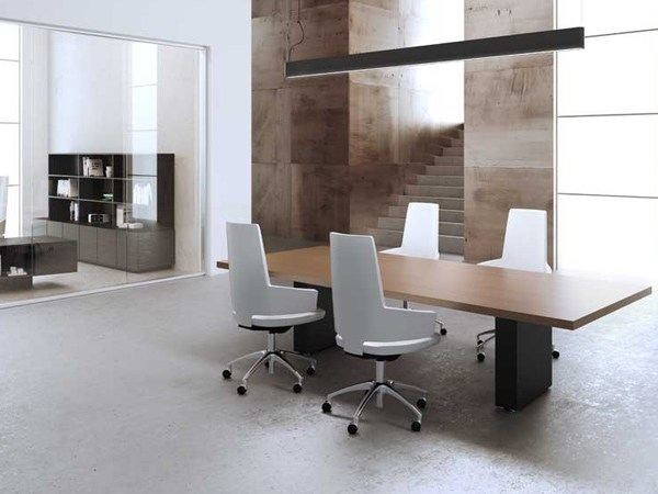Wooden meeting table MAST | Meeting table - MASCAGNI