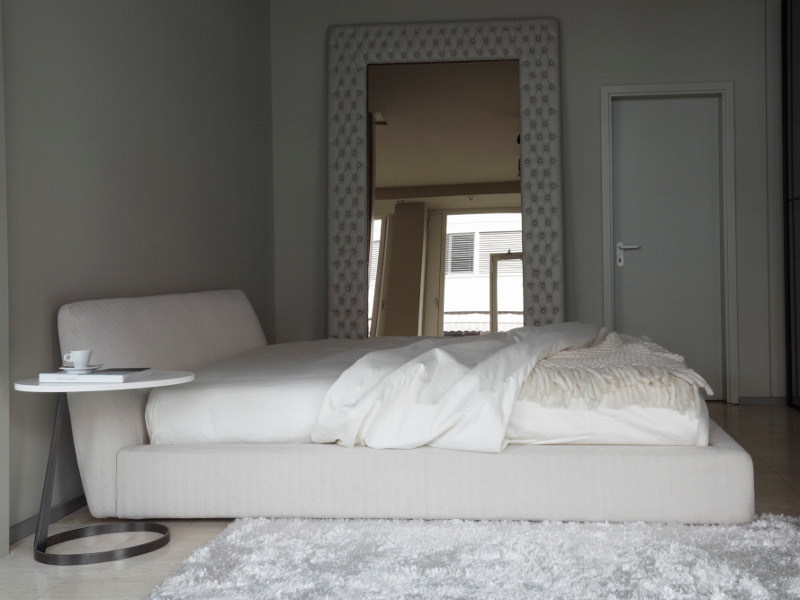 Upholstered bed with removable cover TENDER | Bed by Nube Italia
