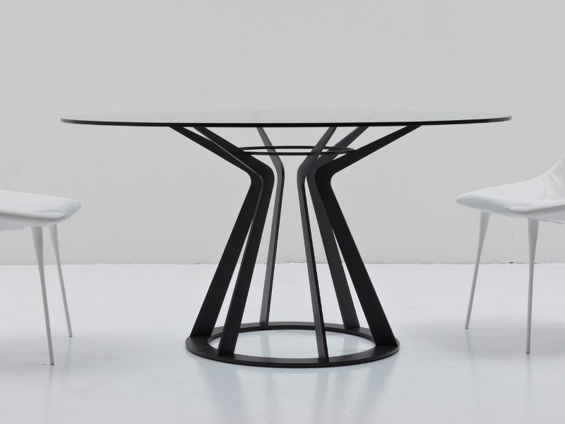 Round crystal table MITOS by Nube Italia