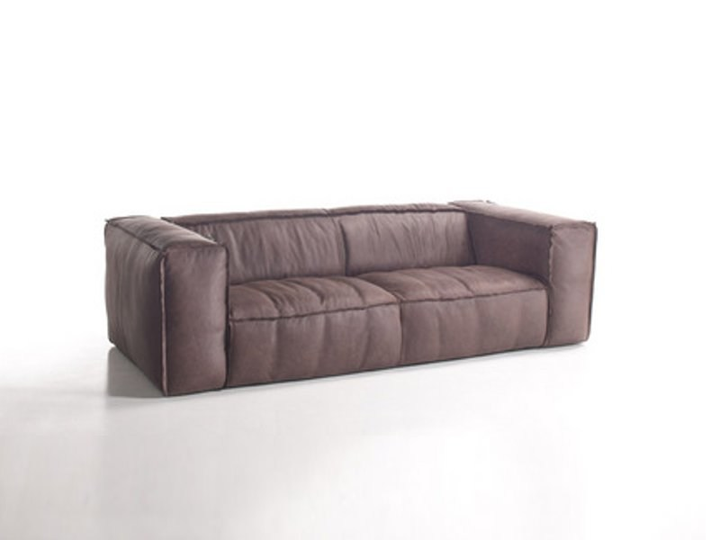 2 seater leather sofa FRANKI | 2 seater sofa - KARE-DESIGN