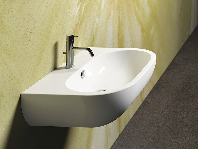 Wall-mounted ceramic washbasin SFERA 65 | Washbasin - CERAMICA CATALANO
