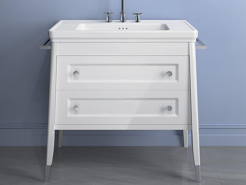 Classic style semi-inset rectangular washbasin