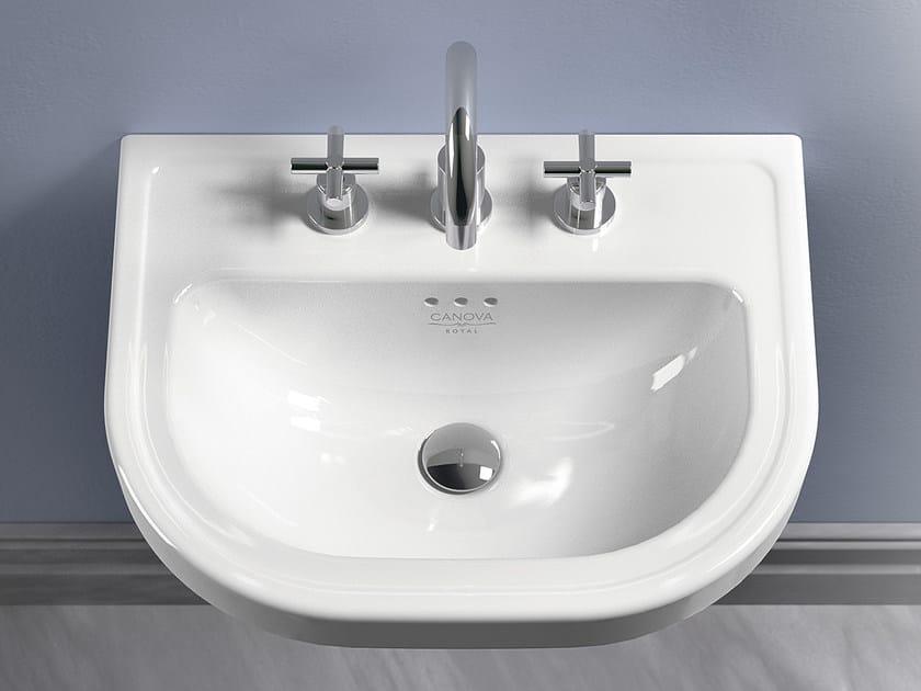 Classic style wall-mounted ceramic washbasin CANOVA ROYAL 56 | Washbasin - CERAMICA CATALANO