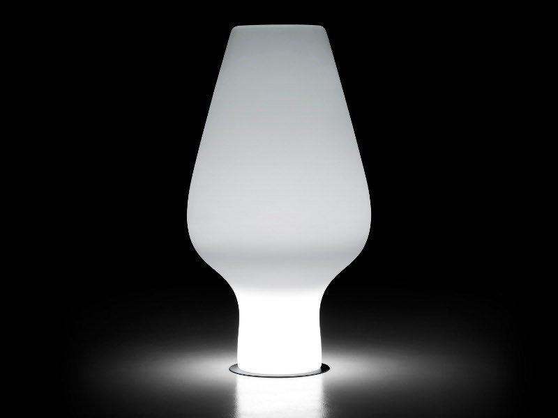 Polyethylene vase with Light HARBO LIGHT - PLUST Collection by euro3plast